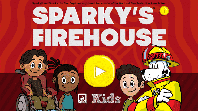 Sparky's Firehouse app teaches fire safety