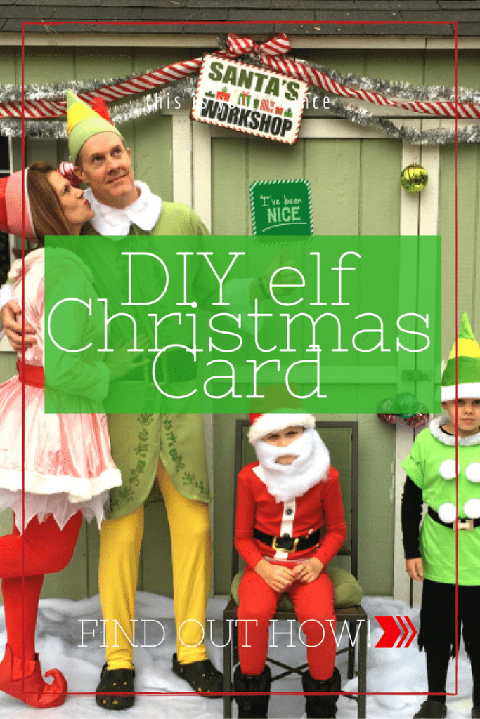 DIY elf Christmas Card at home