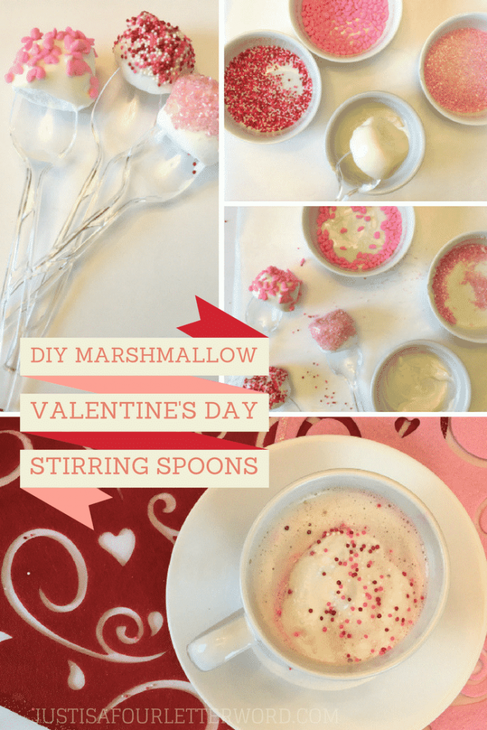Make your own candy coated marshmallow spoons for Valentine's Day! Great for teacher gifts or just a fun way to enjoy some hot cocoa!