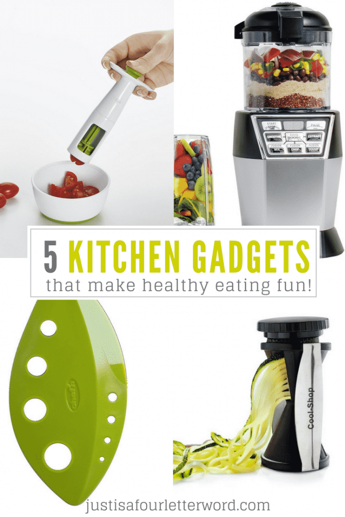 My top 5 kitchen gadgets that make healthy eating fun! These are my must-haves. I love kitchen tools that make cooking easy!