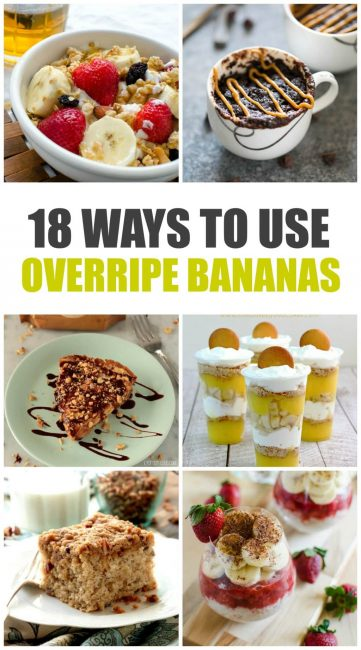 18 ways to use overripe bananas