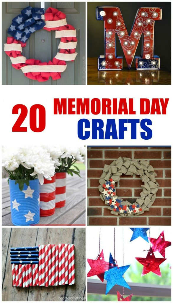Make a fun and easy Memorial Day craft to add some patriotic fun to your home or school decor.