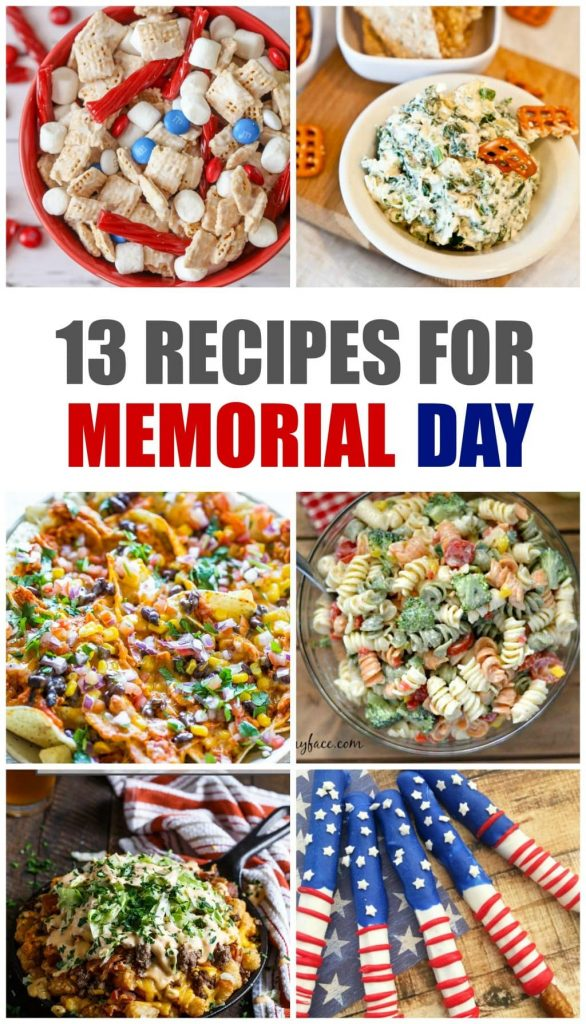 Grab these Memorial Day Recipes for your next patriotic party, picnic, or classroom celebration. Save your favorites for a repeat on the 4th of July!