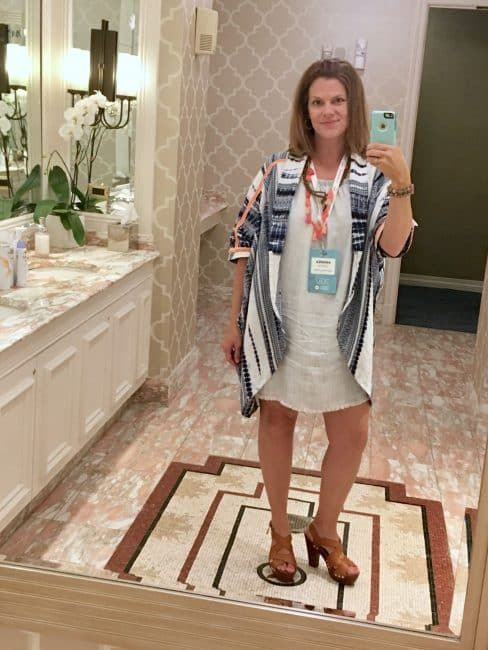 Conference Day 1 Mom 2.0 Bathroom Selfie