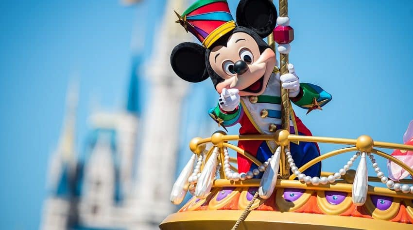 Mickey Mouse on a float - Tips to Make the most of a quick trip to Walt Disney World