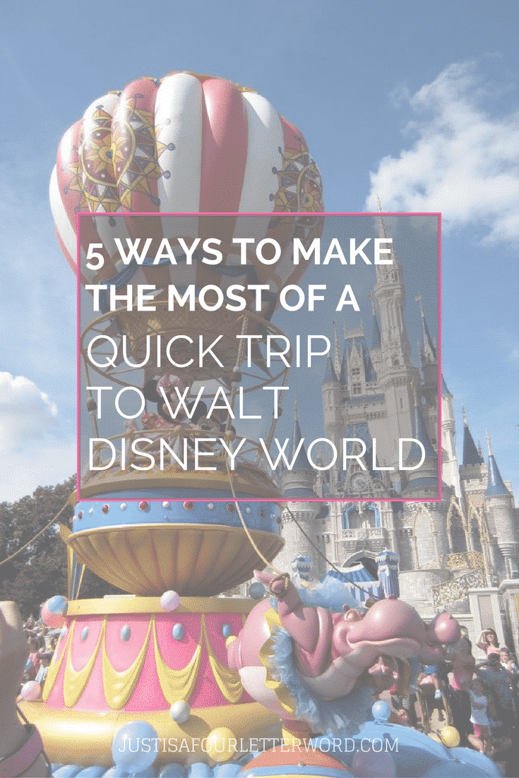 Long Disney vacations can be hard to come by for many. The good news is you can still have a great time on a quick trip to Walt Disney World. Here's how!