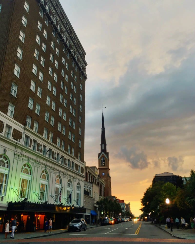 Francis Marion Hotel Charleston Sunset