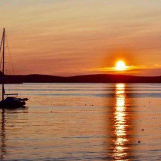 Sunrise in Bar Harbor Maine