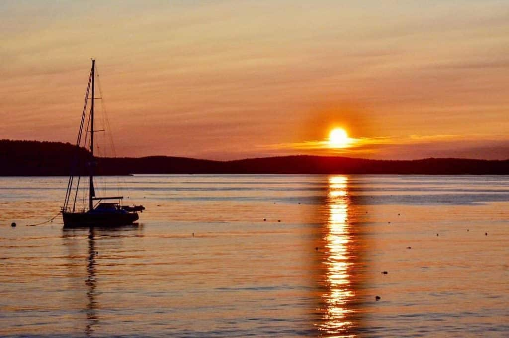 Sunrise in Bar Harbor Maine
