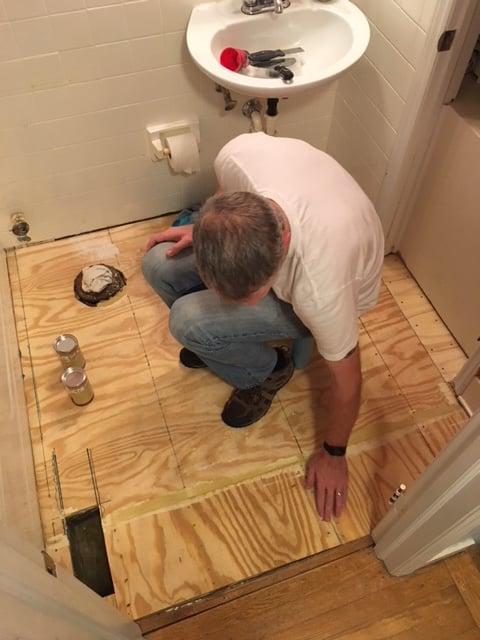 Bathroom Floor Reno