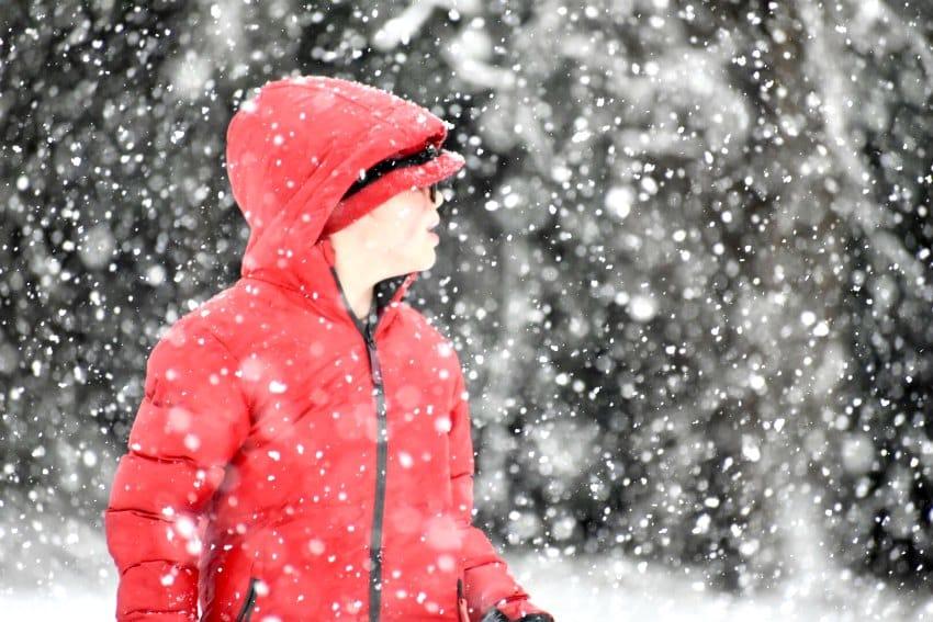 Calvin snowy day