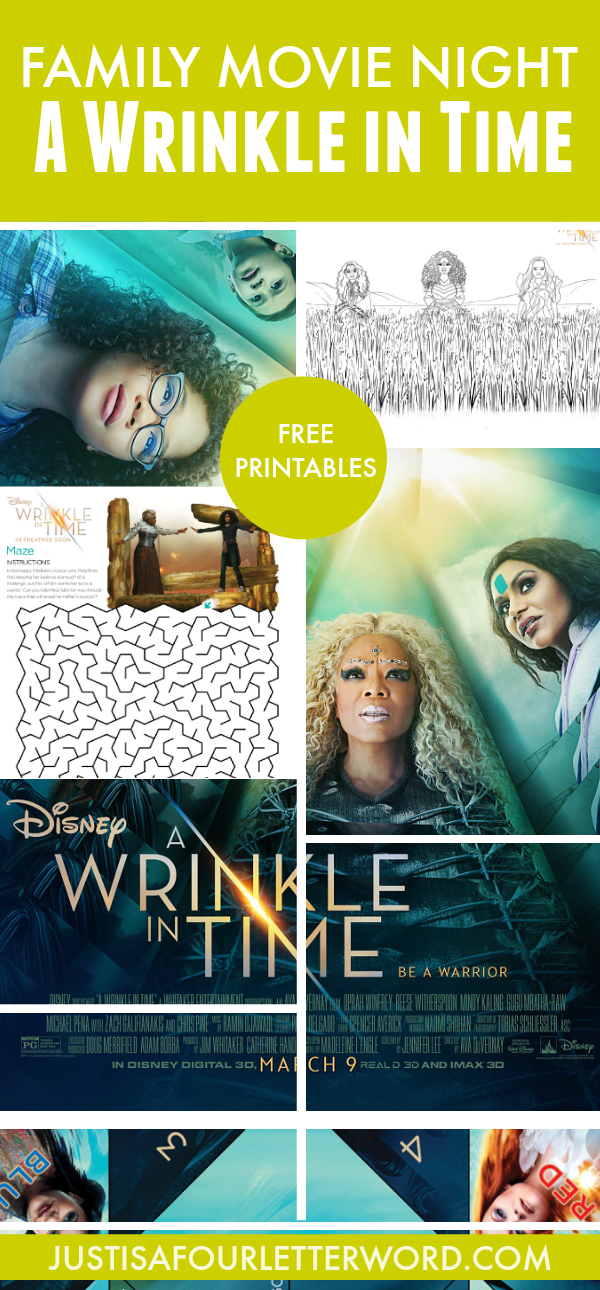 Looking for some fun activities for A Wrinkle in Time? Grab these ideas and free printables for your ultimate space travel fan and read our parents' guide. Easily described as a story about space travel, A Wrinkle in Time also shares a good vs. evil battle that is both enlightening, a little intense and overflowing with a very sweet message of love. This fun family movie is definitely a kids movie first, but something the whole family can enjoy together.