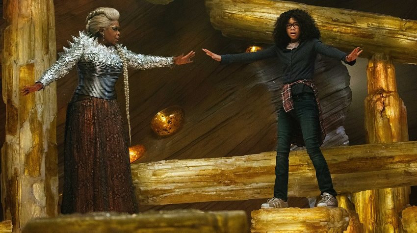 A WRINKLE IN TIME image of Meg and Mrs Which