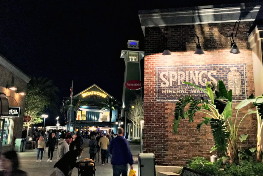 Disney Springs The Boathouse at Night