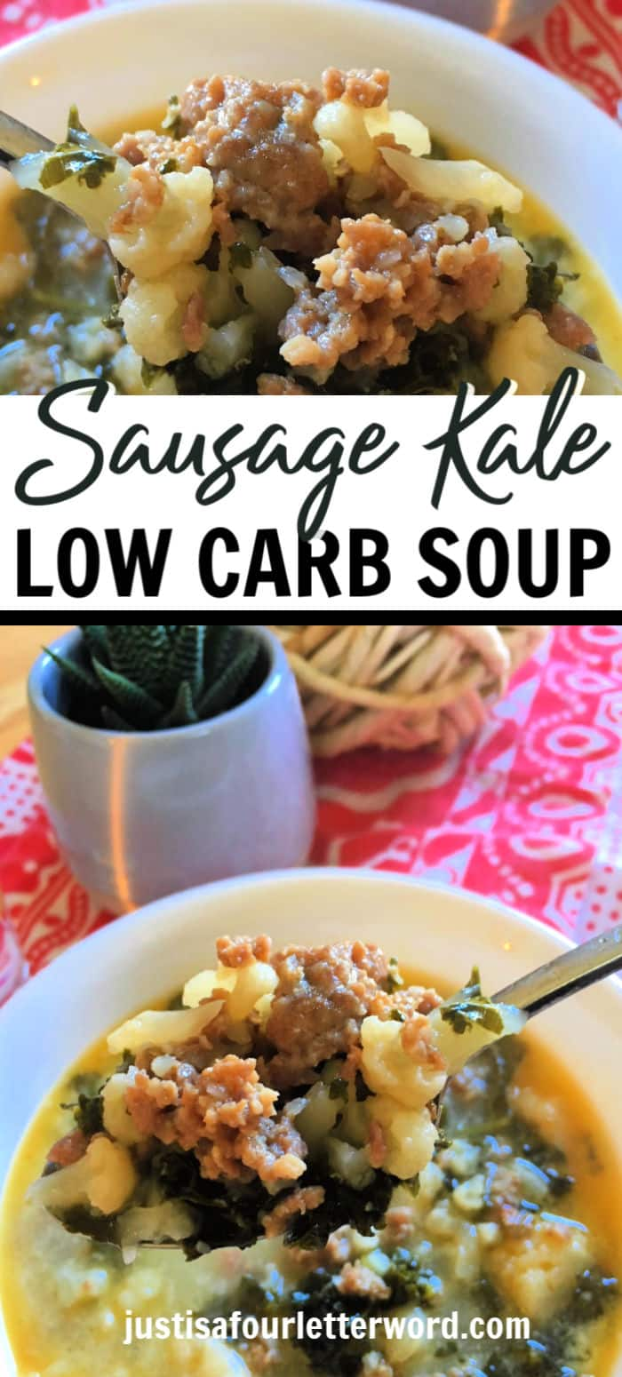 Easy Keto friendly sausage kale soup instant pot recipe. You can make it on the stove or in the instant pot and it's SO good! A family favorite. Low carb zuppa toscana copycat recipe.