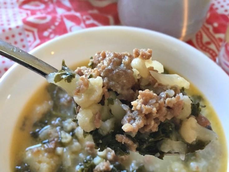 Low Carb Sausage Kale Soup Instant Pot Recipe