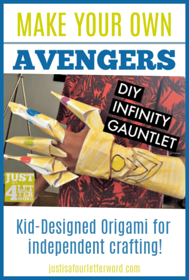Avengers assemble! Make this awesome DIY Infinity War Infinity Gauntlet craft for kids