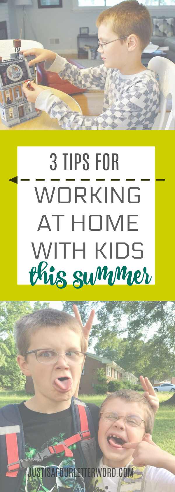 Use these 3 tips for working at home with kids this summer and everyone wins! Stay motivated and enjoy the flexibility of a job you can do at home.