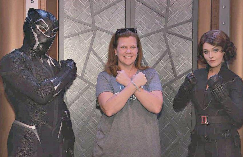 Black Panther and Black Widow Meet and Greet Disney California Adventure
