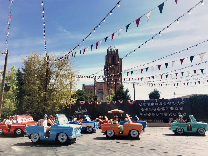Luigis Rollickin Roadsters Disney California Adventure