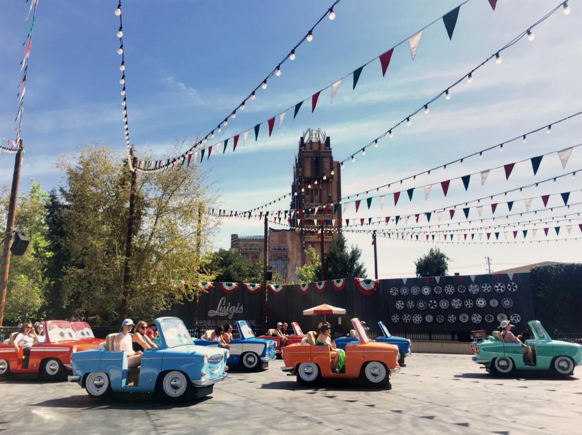 Luigis Rollickin Roadsters Disney California Adventure