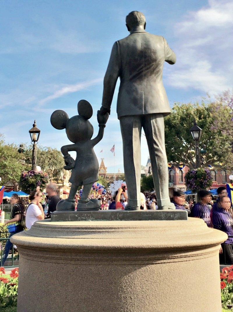 Partners Statue Main Street Disneyland