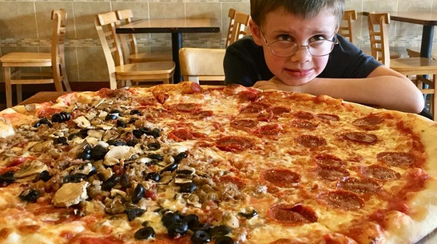 one big pizza