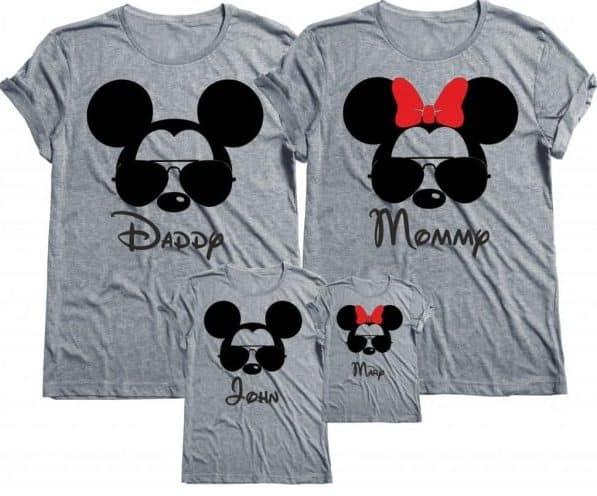 disney mickey minnie family shirts