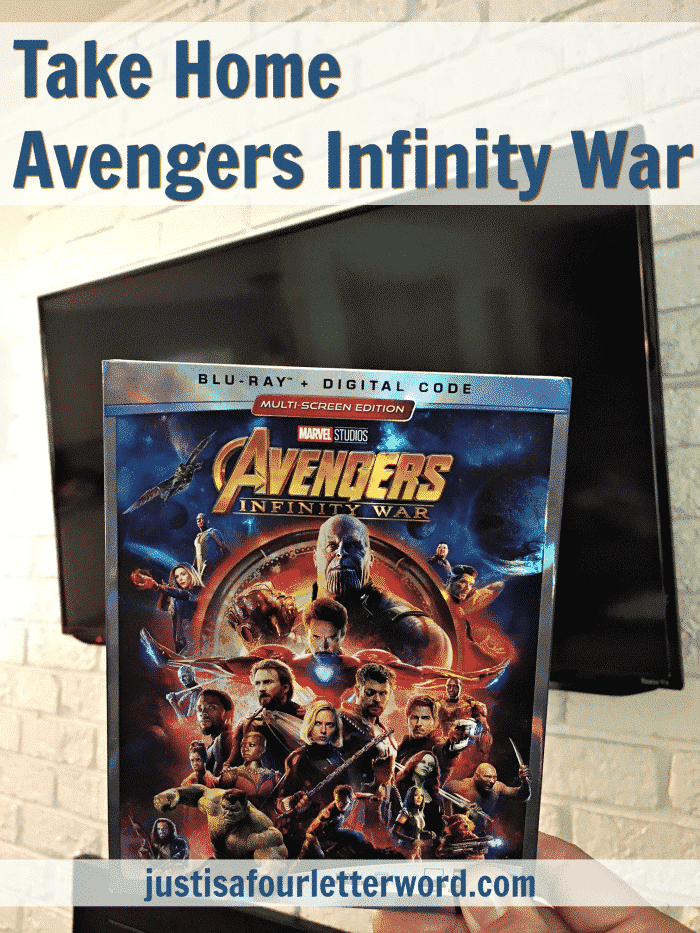 Avengers Infinity War on Blu-Ray
