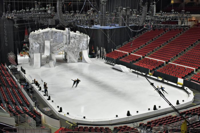 Cirque du Soleil CRYSTAL Rehearsal PNC Arena Ice