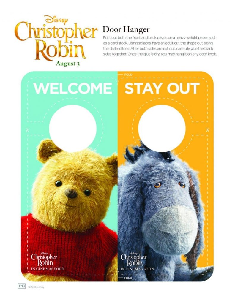 ChristopherRobin door hanger