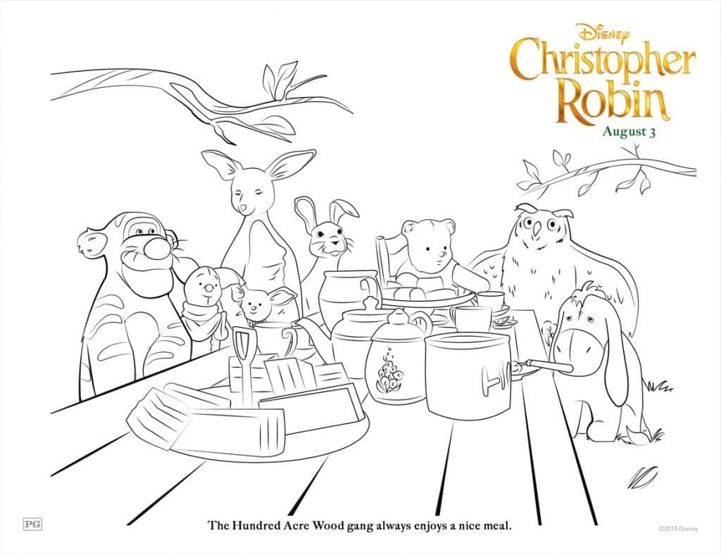 ChristopherRobin Friends at table