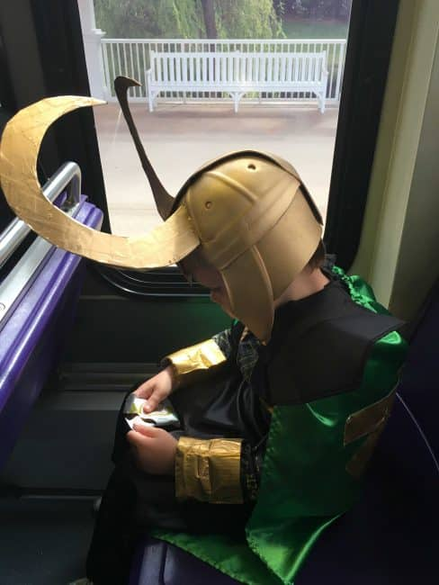 Diy Loki helmet side view