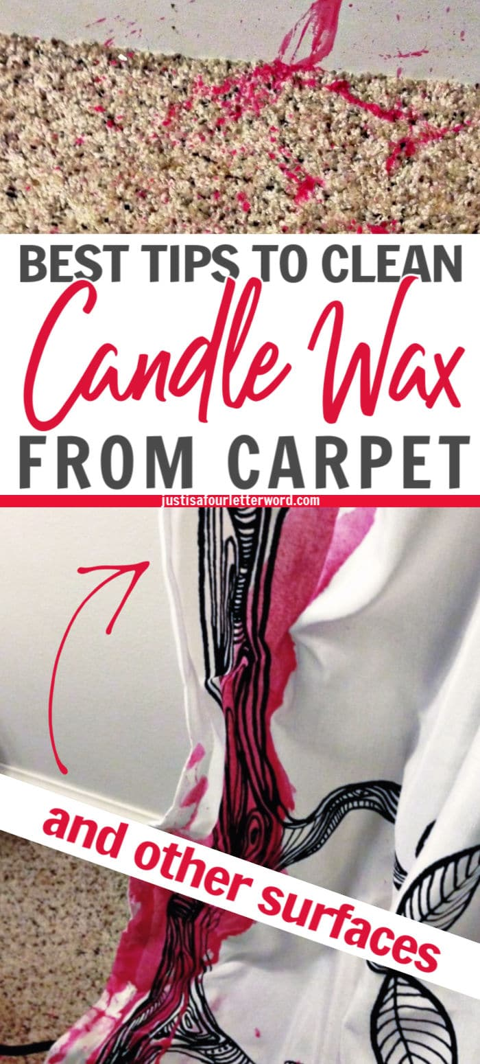 clean candle wax from carpet
