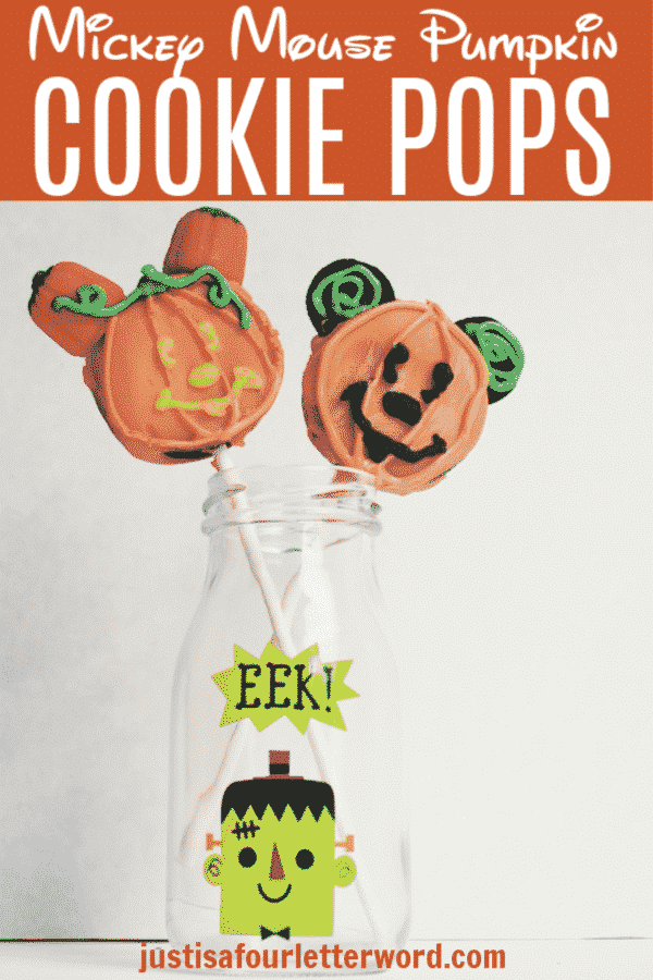 Mickey Mouse Pumpkin Cookie Pops