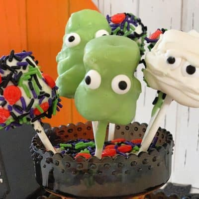 Halloween Marshmallows inspired by Hotel Transylvania 3