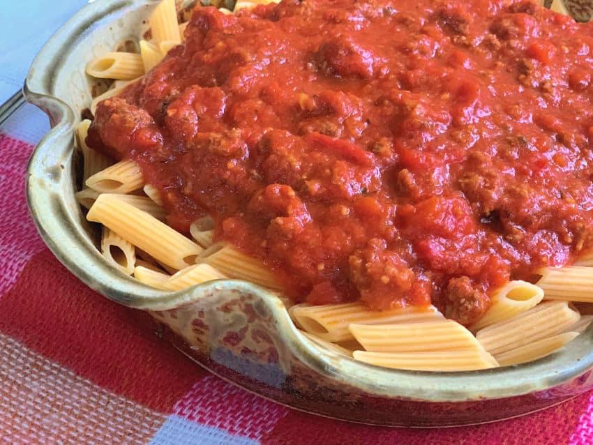 Gluten Free Pasta and Sauce