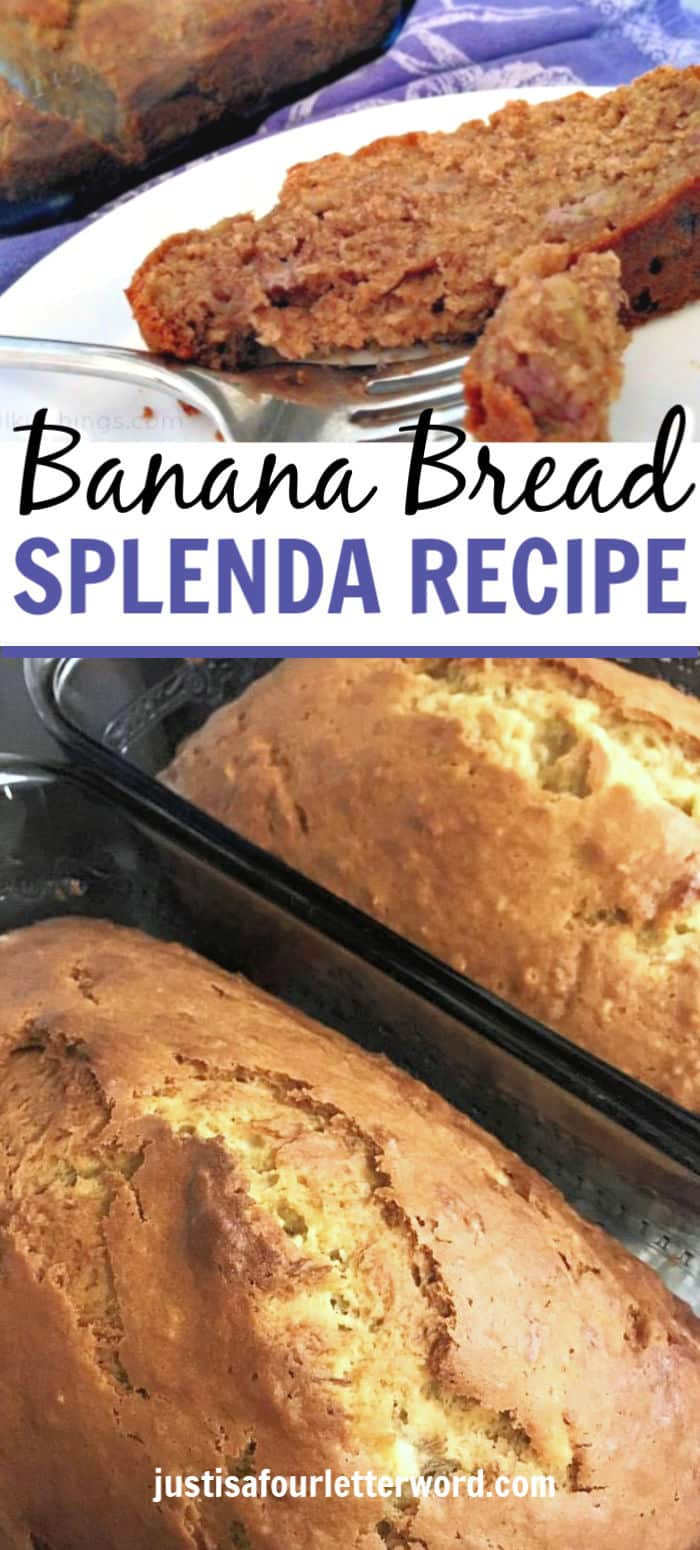 Use this quick and easy banana bread recipe with Splenda or Splenda Sugar Blend to cut on added sugar. Don't want to use Splenda? No problem. Just use sugar in it's place. Or for added sugar free banana bread, use only SPLENDA.