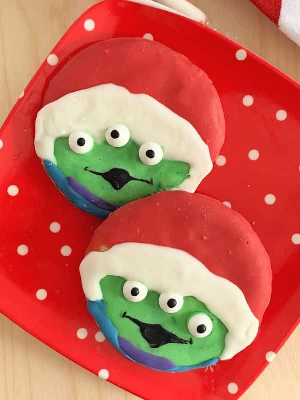 2 Santa Alien Christmas Cookies