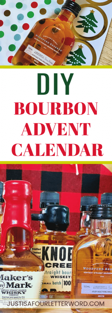 Want to get on the boozy advent calendar fun but not a wine drinker? Make this delicious diy bourbon advent calendar instead!