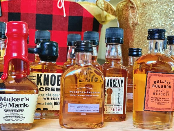 Bourbon bottles for Whiskey Advent Calendar