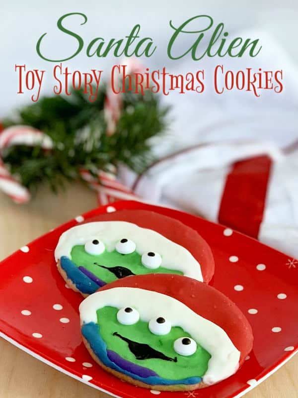 Make these Santa Alien Toy Story Christmas Cookies