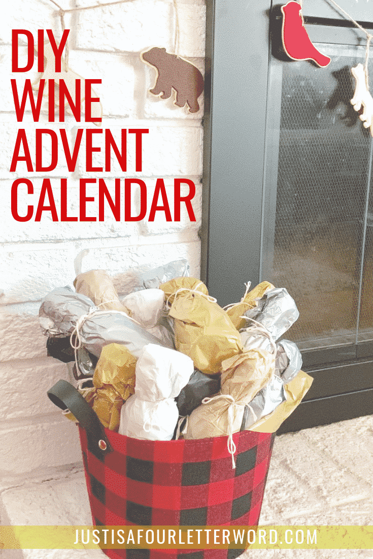 Make this DIY Wine Advent Calendar for a festive holiday countdown!