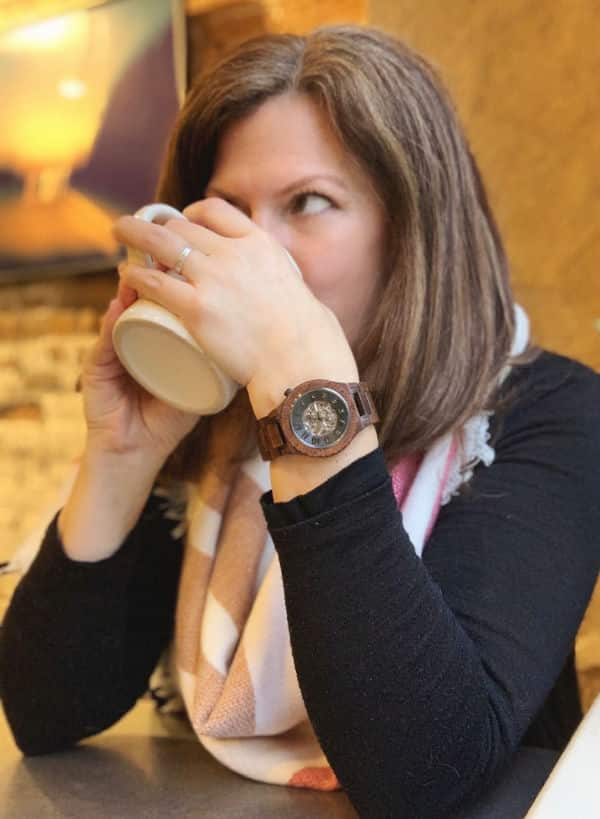 Jord wood watches with coffee