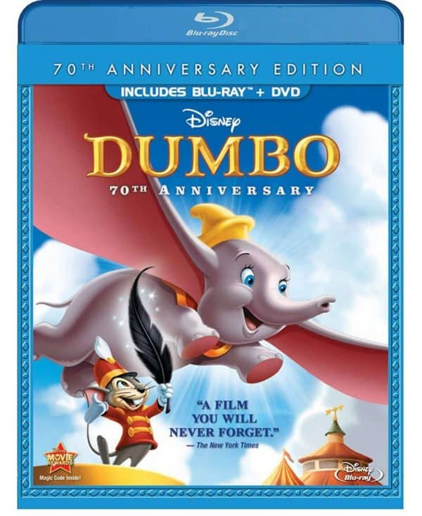 Original Animated Dumbo on Blu-Ray and DVD box cover