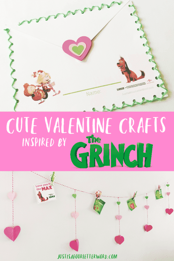 Cute Valentine Crafts Inspired by The Grinch