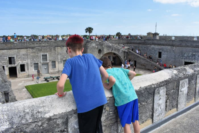 Boys at Castillo de San Marcos