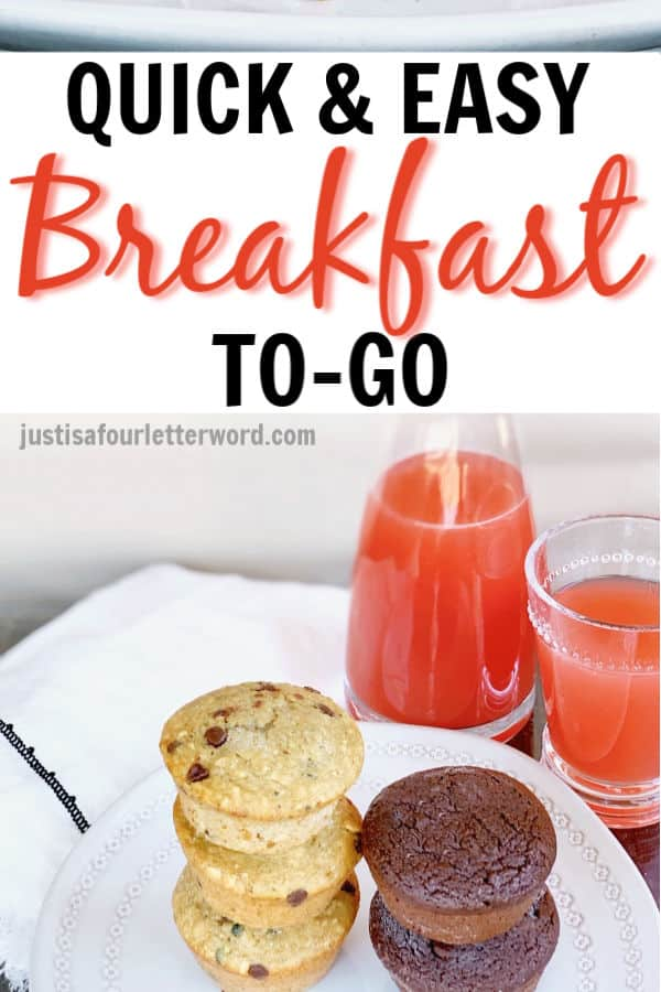 Quick and easy breakfast to go muffins