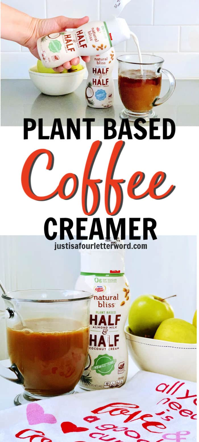 Plant based coffee creamer right in the fridge at Walmart