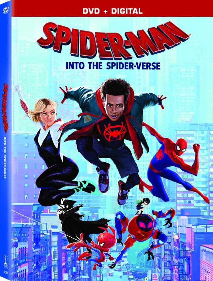 Spider-Man Into the Spider-Verse DVD cover